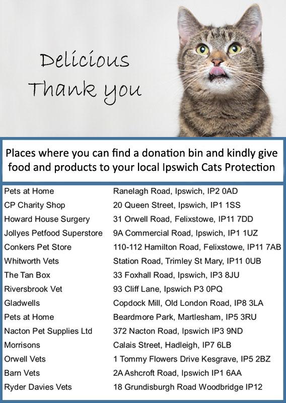 Donation Bins List